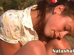 Horny natasha teen solo on the beach