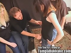 Two Teen Girls Tryout To Be Tampa Bukkake Cum Sluts!