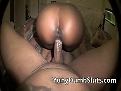 Yung Slut does sit and spin for Daddy