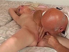 Teen fuck two older man