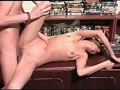 Slender and hot drunk chick is fucked hard