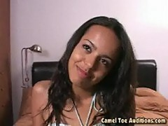 Hot newcomer zeina at cameltoe auditions