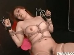 Asian Roped And Made To Cum