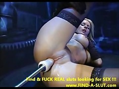 Lovely Beauty Tries a Big Cock Machine - ...