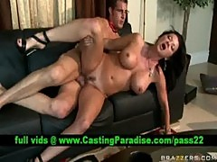 Busty brunette milf gets fucked and cumshoot