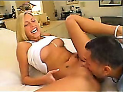 Cassie Young takes on two cocks