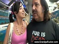 Ron jeremy touching a young girl