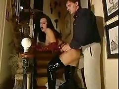 Euro Teen In Her Latex Outfit Gets Hard Cock To Suck And Fuck