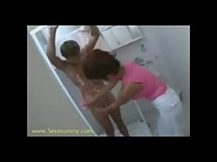 hot milf fucks teen in the shower