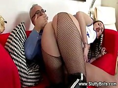 Teen Nurse Rides A Senior Patients Pole