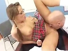 Nika Noire gets her sweet pussy licked by the horny principal
