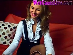 Secretary Role Play Dildo On Cam Part 1