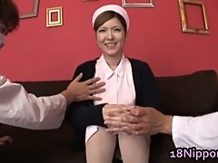 Hot Teen Jap Nurse Fingered
