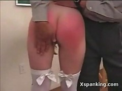 Avery's bare ass spanking