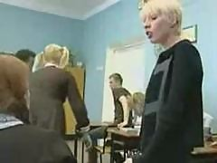 Russian Teacher Punishes One of her Students