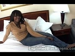 Cute 18yr old Ebony Teen in 1st Time Amateur Video
