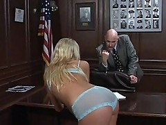 Old daddy fucks young Ashley Moore