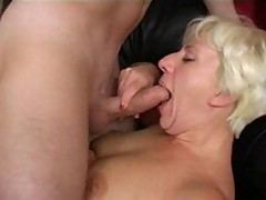 Mature horny russian wife with a young guy