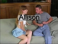 Allison Whyte in Baby Blue Skirt Gets Fucked