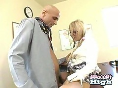 Petite Blonde Gets Rammed By Teacher