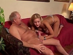 Sexy blonde exchanges smoking for dick