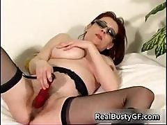Stunning Round Tits Mom Dildo Fucked Part6