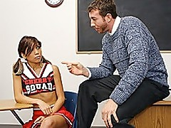 Tight Asian Cheerleader Gets Pussy Rocked By Teacher