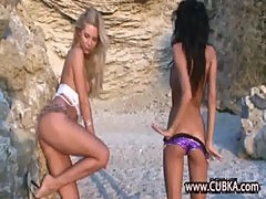 perfect naked lesbians on the beach