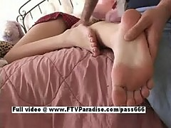 Alison from ftv girls, asleeped busty blonde babe gets toes