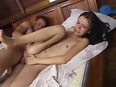 Cute latina gets a painful anal