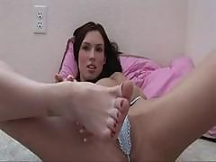 Horny Feet Solo of 18 years Rachel