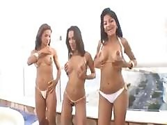 Latina Teens Are In An Orgy Of Fun With Lots Of Pussy And A Cock