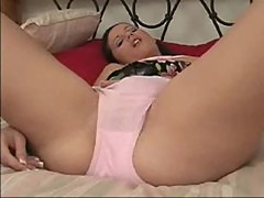 Pigtail teen masterbation fun