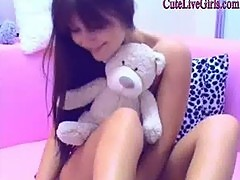 This teen girl it's chatting, smiling, having fun Watch her